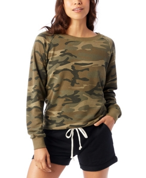 Lazy Day Printed Burnout French Terry Women's Pullover Sweatshirt