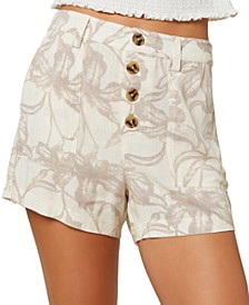 Juniors' Morris Floral-Print Shorts