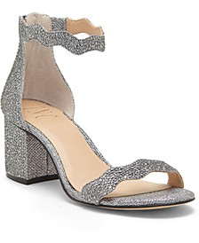 INC Hadwin Scallop Block-Heel Sandals, Created for Macy's