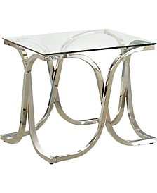 Sarif Glass Top End Table