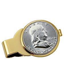 Silver Franklin Half Dollar Coin Money Clip