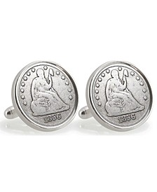 Auburn University 1856 Sterling Silver Dime Coin Cuff Links