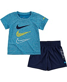 Baby Boys Dri-FIT T-Shirt and Shorts 2-Piece Set