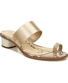 Ilana Toe-Loop Block-Heel Sandals