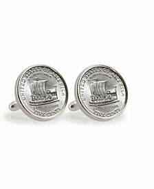 2004 Keelboat Sterling Silver Coin Cuff Links