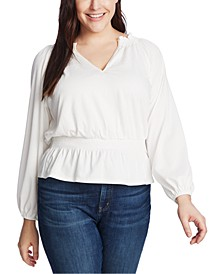 Trendy Plus Size Smocked Top