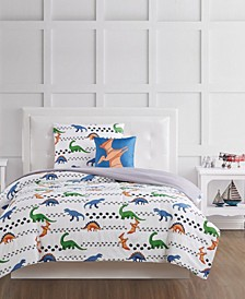 Dino Tracks Twin 3 Piece Comforter Set