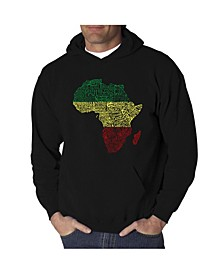 Men's Countries in Africa Word Art Hooded Sweatshirt