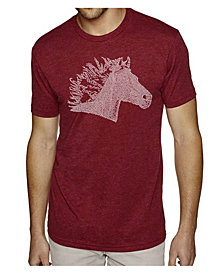 LA Pop Art Men's Premium Word Art T-shirt - Horse Mane