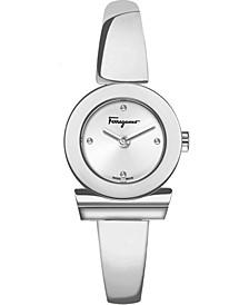 Women's Swiss Gancino Stainless Steel Bangle Bracelet Watch 27mm