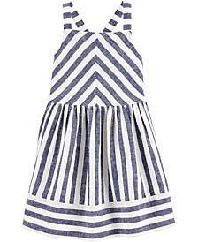 Toddler Girls Blue Striped Dress