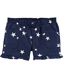 Toddler Girls Star Pull-On Poplin Shorts