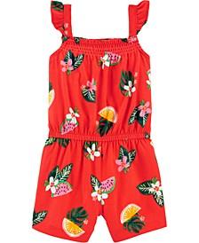 Baby Girls Floral Fruit Romper