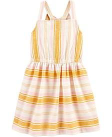 Toddler Girls Yellow Striped Dress