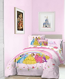 Princess 'Dream Big' 6pc Twin bed in a bag