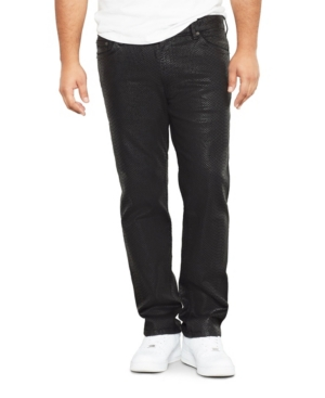 Mvp Collections By Mo Vaughn Productions Men's Big Tall Cobra Print Wax Straight Fit Jeans