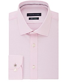Men's Big & Tall Slim-Fit Performance Stretch Spread Collar Dress Shirt
