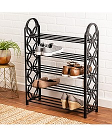 5-Shelf Lightweight Black Shoe Rack