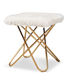 Valle Glam and Luxe Upholstered Ottoman