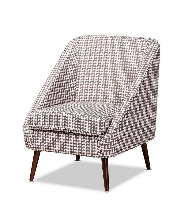 Furniture Furniture Gia Modern and Contemporary Houndstooth Accent Chair