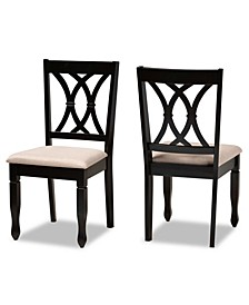 Reneau Transitional 2 Piece Dining Chair Set with Seat