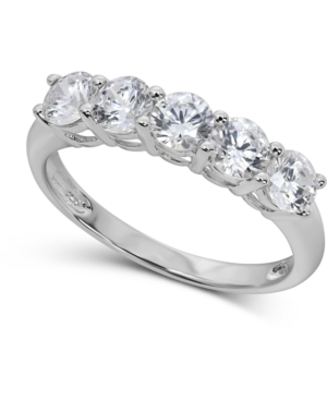 Cubic Cubic Zirconia Ring in 14k White Gold