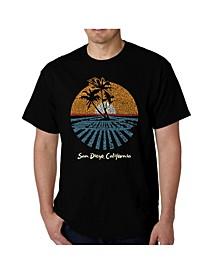 Men's Word Art - Cities in San Diego T-Shirt