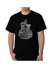 Men's Word Art - Languages Guitar T-Shirt