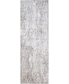 "Wonder WAM-2306 Charcoal 3'1"" x 9' Runner Area Rug"