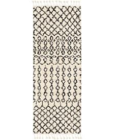 "Berber Shag BBE-2309 Charcoal 2'7"" x 7'3"" Runner Area Rug"