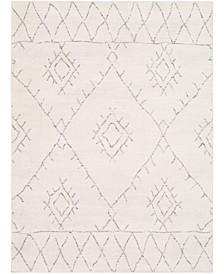 "Roma ROM-2337 White 9' x 12'3"" Area Rug"