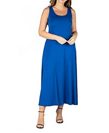 Women's Plus Size Simple A Line Tank Maxi Dress