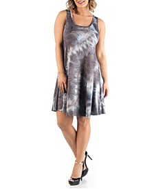 Women's Plus Size Sleeveless Tie Dye Dress