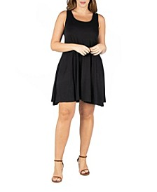 Women's Plus Size Fit and Flare Tank Dress