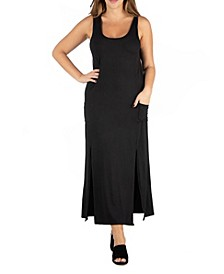 Women's Plus Size Sleeveless Maxi Dress