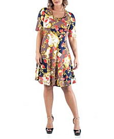 Women's Plus Size Flare Dress