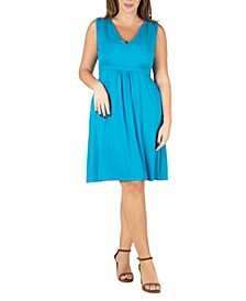 Women's Plus Size Empire Waist Sleeveless Party Dress