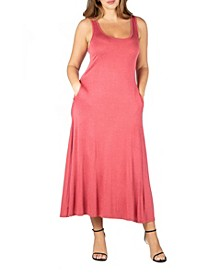 Women's Plus Size Tank Maxi Dress