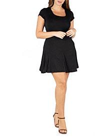 24seven Comfort Apparel Women's Plus Size Short Sleeve T-Shirt Dress