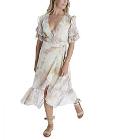 Women's Tie Dye Wrap Dress