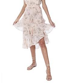 Women's Floral Ruffled Skirt