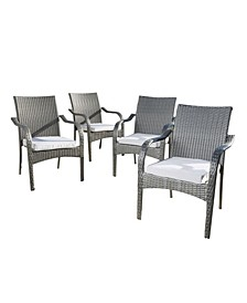 San Pico Stacking Chairs, Set of 4