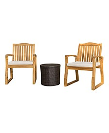 Tampa Outdoor 3 Piece Chat Set with Round Table