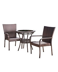 Malone Outdoor 3 Piece Bistro Set