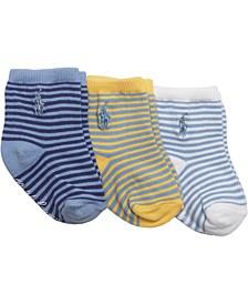 Ralph Lauren 3-Pk. St. James Striped Crew Socks, Baby Boys (0-24 months)