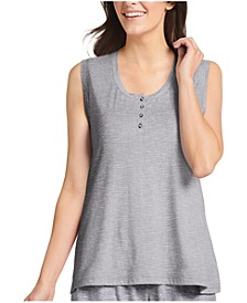 Women's Retro Henley Lounge Tank