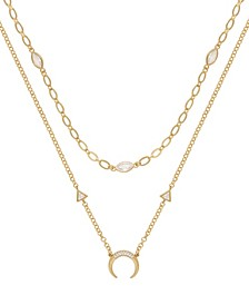 Mesmerize Me Crescent Horn Layered Women's Necklace Set