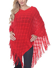 White Mark Women's Frostine Poncho