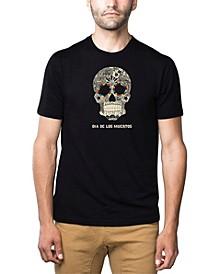 Men's Premium Word Art T-Shirt - Dia De Los Muertos