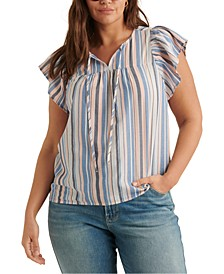 Flutter-Sleeve Peasant Top